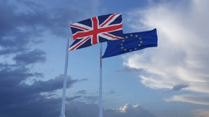 UK and European flag