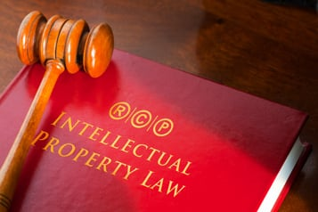 Book Intellectual Property Law and gavel